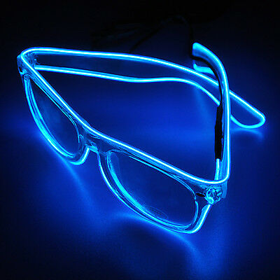 El Wire Glasses Fashion Neon LED Light Up For Rave Costume Party DJ Dancing Club