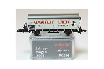 Z 1:220 Märklin 80314 vagon mercancia freight car ganter bier DB insider Mini cl