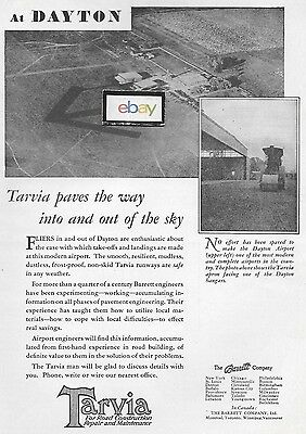 Dayton Municipal Airport 1929 Tarvia Paves The Way Barrett Company Ad