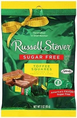 Russell Stover Chocolate Sugar Free Toffee Squares