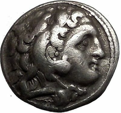 ALEXANDER III the GREAT 323BC Hercules Zeus Ancient Silver Greek Coin i56038