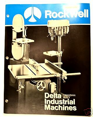 CANADIAN BUILT DELTA INDUSTRIAL MACHINES 1974 jointer lathe drill #RR21 Catalog
