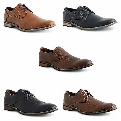 Mens Casual Italian Formal Office Smart Work Lace Up Oxford Brogue Shoes Size