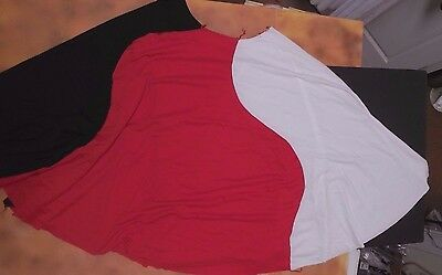 NEW unfinished floorlength circle praise skirt 3 colors needs waistband. 6x-10ch