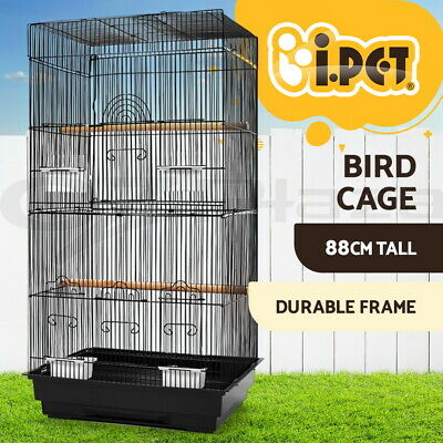 88cm Bird Cage Parrot Pet Carrier Portable Canary Budgie Finch Perch Medium