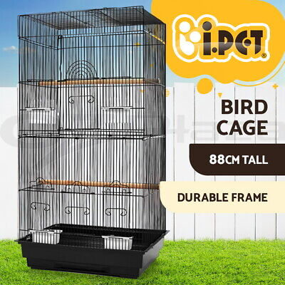 i.Pet Bird Cage Parrot Pet Carrier Portable Canary Budgie Finch Perch 88cm M