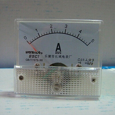 1Pcs 85C1-A Analog Current Panel Meter DC 5A Ammeter Ampere Gauge Tester