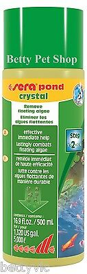 SERA POND CRYSTAL 500ml Elimina ALGAS FLOTANTES para ESTANQUE 07226