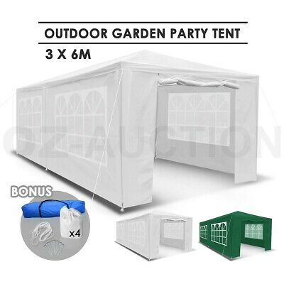 3x6m Walled Waterproof Outdoor Gazebo Folding Party Canopy Tent Marquee