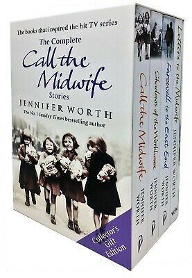 Jennifer Worth Collection 4 Books Set Call Midwife Shadows Of Workhouse Farewell