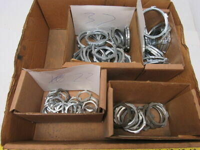 87 pcs. Mixed Sizes Steel Conduit Locking Nuts Sold As one Lot  See Description