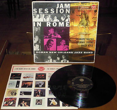 LP ROMAN NEW ORLEANS JAZZ BAND Jam session in Rome (Rca 59) 1st ps Italian NM!
