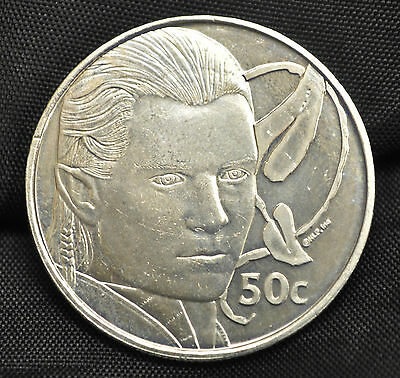 2003 New Zealand 50 cents Lord of the Rings: Legolas
