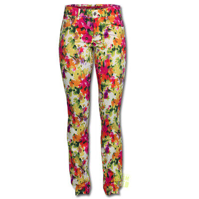 Alberto Damen Golfhose Anja Painted Flower