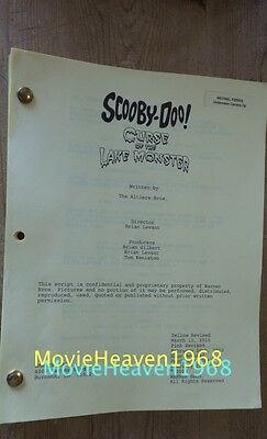 Scooby-Doo! Curse of the Lake Monster MOVIE SCRIPT SCREENPLAY