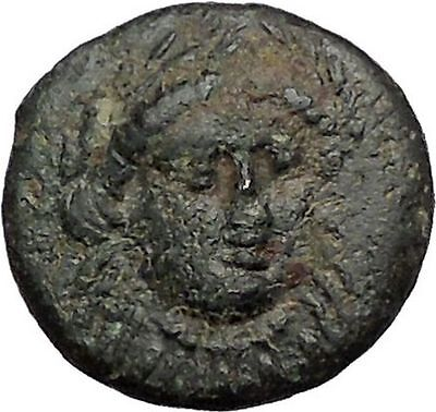 Gergis 400BC ORACLE Sibyl Herophile Sphinx Authentic Ancient Greek Coin i56048