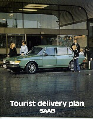 1978 Saab Tourist Delivery Plan Brochure my6318