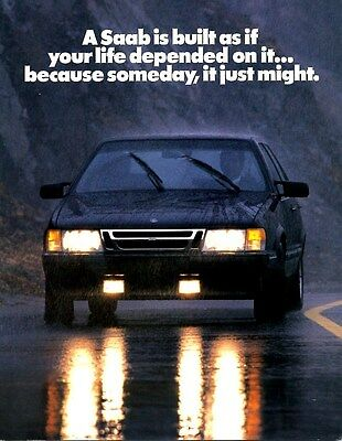 1990 Saab Safety Brochure my6333