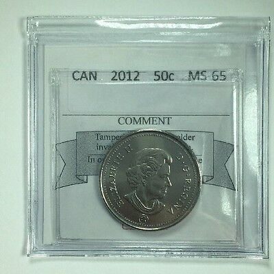 2012 Canadian Fifty Cent Coin Mart Graded MS-65