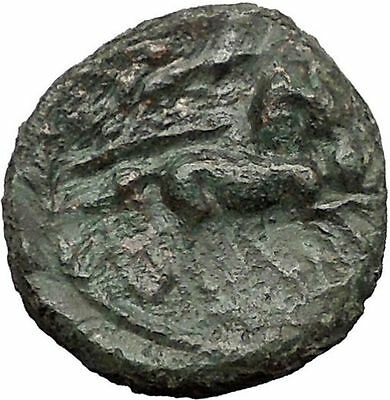 SYRACUSE in SICILY 1stCenBC under Romans ZEUS Nike Chariot Greek Coin i55891