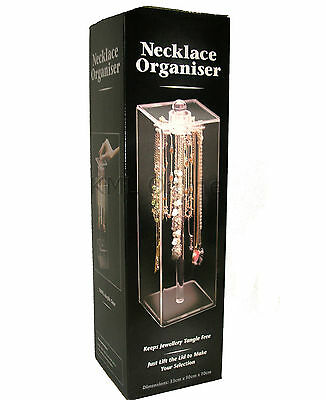 Necklace Bracelet Jewellery Storage  Display Case Holder Box Organiser New