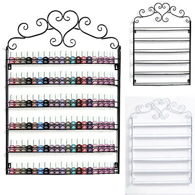 Nail Polish Wall Stand Decorative Rack 5 / 6 Tier Storage Display Holder Metal