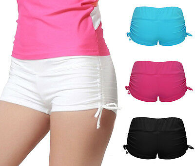 Women Beach Shorts Plain Bikini Swim Pants Swimwear Briefs Bottoms Boardshorts