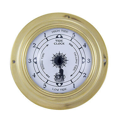 Maritime Tide Uhr in Messing - Boot Schiff Yacht Instrument - sc-9406