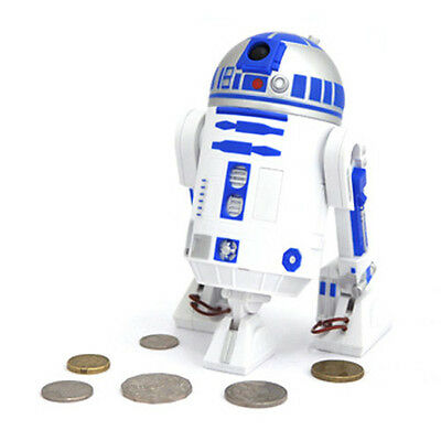 Star Wars R2-D2 Talking Money Cash Coin Tokens Bank Authentic Adorable Sounds