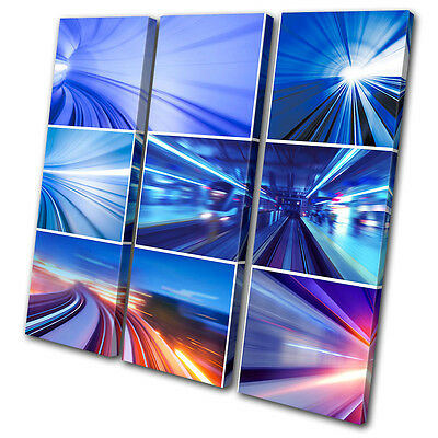 Canvas Artwork Picture Print Photo Transportation City Urban concept Abstract