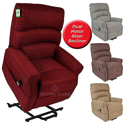 Augusta Brand New Electric Dual Motor Luxury Fabric Riser Recliner Lift Chair