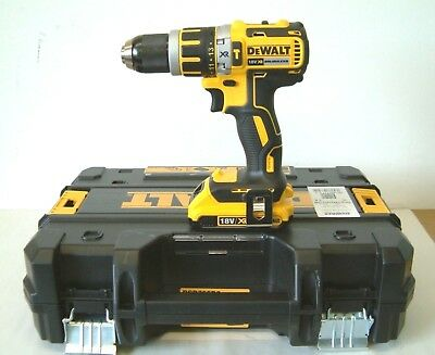 DEWALT DCD795D2 18V XR B/LESS COMPACT COMBI DRILL 2 x 2Ah Batteries in T-STAK