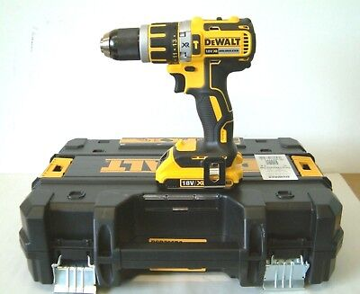 DEWALT DCD795D2 18V XR Brushless compact combi drill 2x2Ah Batteries in T-Stak