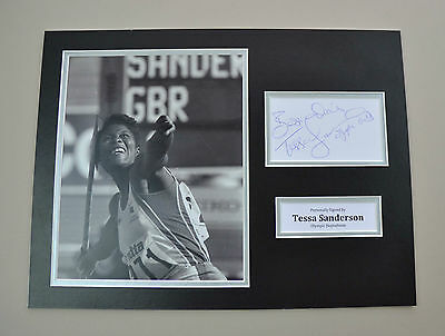 Tessa Sanderson Signed 16x12 Photo Autograph Display Olympics Memorabilia + COA