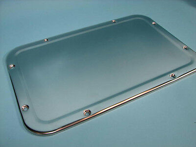"ASI Security 17""x11"" Stainless Steel Front Mount Prison/Campground Mirror 10-107"