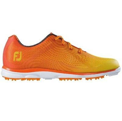 FootJoy Womens emPOWER Closeout Golf Shoes 98005 – Orange/Yellow – Brand New