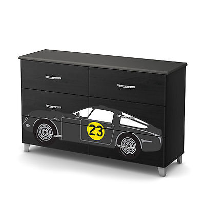 South Shore Luka 6-Drawer Double Dresser with Car Ottograff Decals
