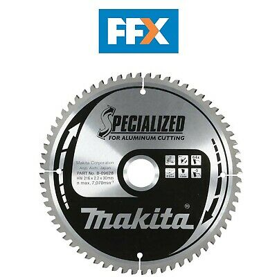 Makita B-09628 216mm x 30mm x 64T Specialized Aluminium Mitre Saw Blade