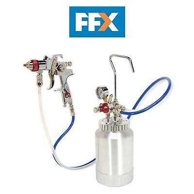 Sealey HVLP-79/P HVLP Pressure Pot System with Spray Gun and Hoses 1.7mm Set-Up