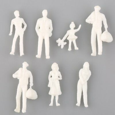 100PCS White Architectural 1:200 Scale Model Figures People