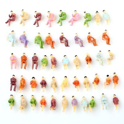 100 pcs Painted Z scale ALL Seated People Sitting Figures 1:200