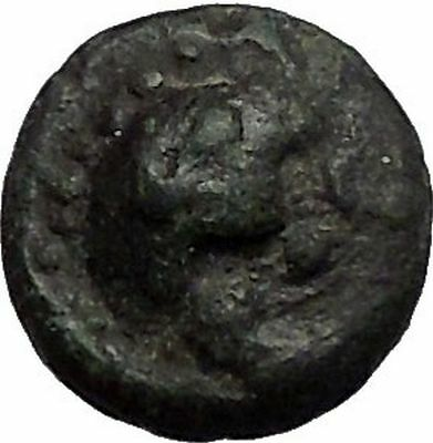 LAMPSAKOS in MYSIA 400BCGorgoneion Thyrsos Poss UNPUB Ancient Greek Coin i56093