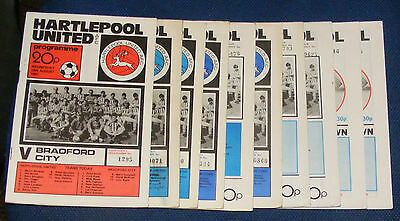 Hartlepool United Various Home Programmes 1981-1982