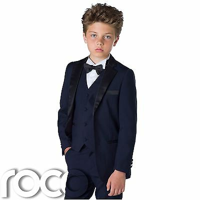 Boys Tuxedo Suit, Boys Navy Suits, Boys Wedding Suit, Boys Suits