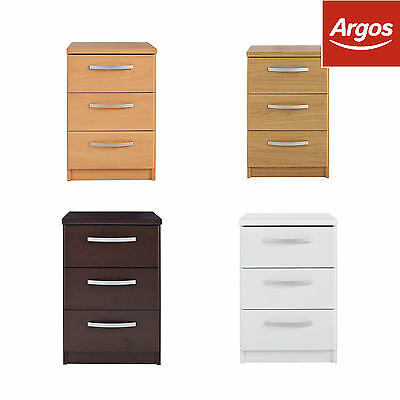 The Collection New Hallingford 3 Drawer Bedside Chest - Choice of Colour :Argos