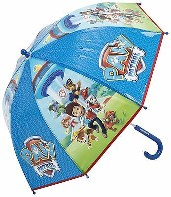 Paw Patrol Boys Blue Umbrella Kids School Bubble Brolly Gift Dome Windproof New