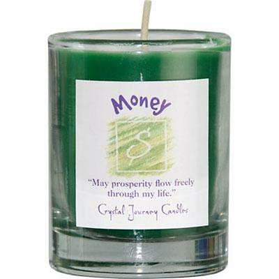 MONEY Herbal Reiki Charged Votive Candle in Jar!