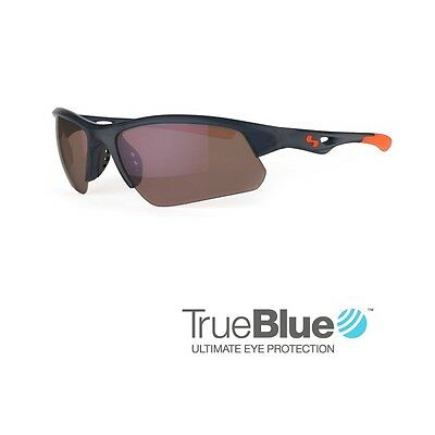 Sundog Golf Stack TrueBlue Sunglasses (Shiny Black / Brown)