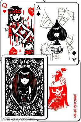 Emily the Strange Playing Cards Poker Card Deck Rob Reger New Mint Sealed Box