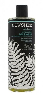 Cowshed Wild Cow Invigorating Bath & Body Oil 100Ml - Women's For Her. New